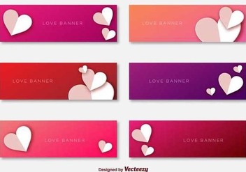 Love Banners Template Vectors - бесплатный vector #349075