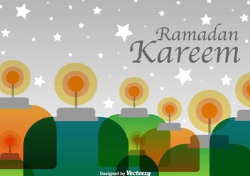 Ramadan Kareem Background - Kostenloses vector #349085