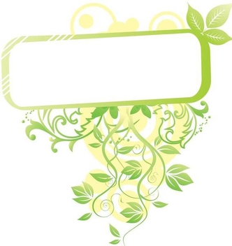 Fresh Swirls Rectangle Frame - vector gratuit #349225
