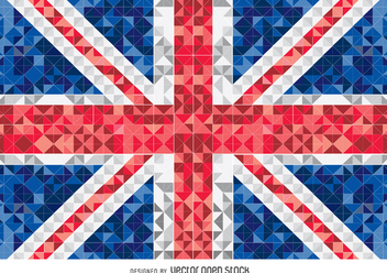 United Kingdom pixelated flag - vector gratuit #349235