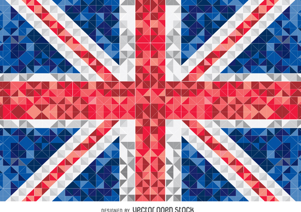 United Kingdom pixelated flag - Free vector #349235