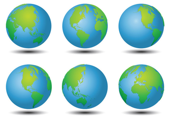 World Map Vectors - vector #349305 gratis