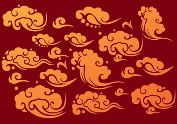 Chinese Clouds Element Vectors - Kostenloses vector #349315