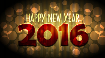 New Year 2016 Bokeh Background - vector gratuit #349425