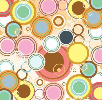 Retro Abstract Bubbles Background - vector gratuit #349435
