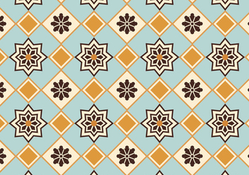 Moroccan Pattern Background Vector - vector gratuit #349515