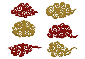 Chinese Clouds Vector - Free vector #349525