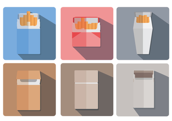 Cigarette Pack Vector - Free vector #349595