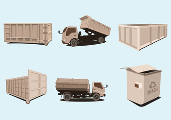 Dumpster Trucks Vector - бесплатный vector #349635