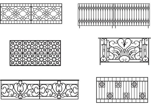 Balcony railing vectors free vector download 349645 cannypic for Balcony vector