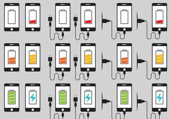 Phone Charger Icons Vector - Free vector #349675