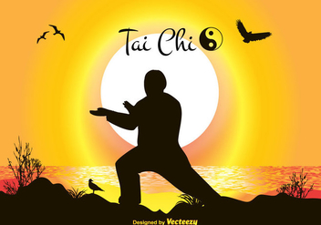 Tai Chi Vector Illustration - Free vector #349695