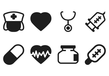Medical Icon Set - Free vector #349825