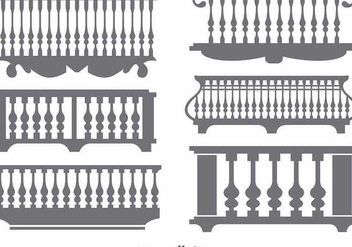 Flat Classical Balcony Icon Vectors - Free vector #349845