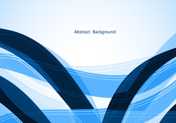 Free Blue Wave Vector background - бесплатный vector #350105
