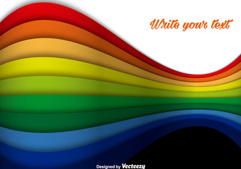 Abstract Rainbow Colorful Lines Vector Background - Free vector #350135