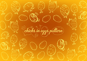 Free Easter Chicks Vector Background - Kostenloses vector #350345