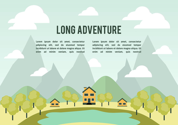 Free Flat Landscape Vector Background - Free vector #350385