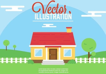 Free Vector House Illustration - Free vector #350395