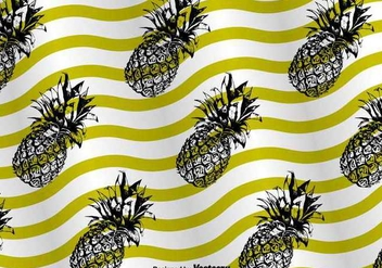 Ananas Pattern Background Vector - vector gratuit #350445