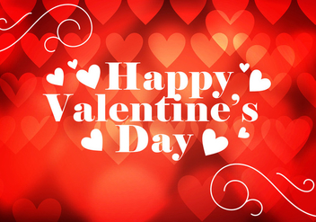 Valentines Day Heart Background Vector - Free vector #350455