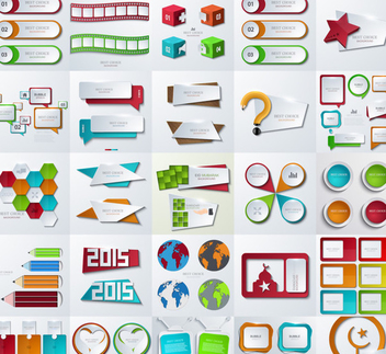 Creative Business & Web Elements - vector #350585 gratis