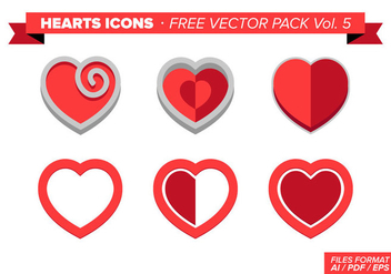 Heart Icons Free Vector Pack Vol. 5 - Free vector #350635