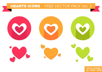 Heart Icons Free Vector Pack Vol. 3 - Free vector #350685