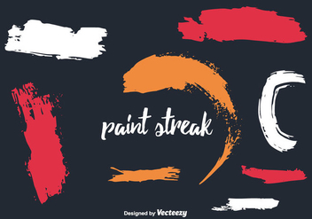 Paint Streak Vector Collection - vector gratuit #350735