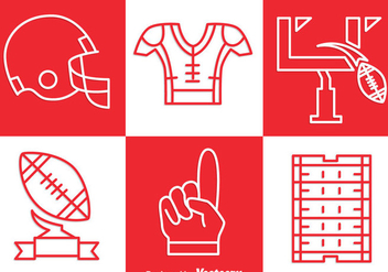 Football Kit Outline Icons Set Vector - vector gratuit #350745