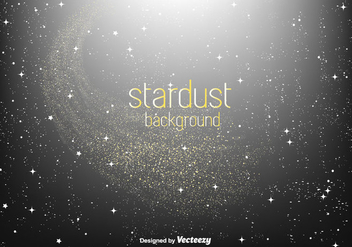 Golden Stardust Vector Background - vector gratuit #350755