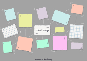 Free Mind Map Vector - бесплатный vector #350765
