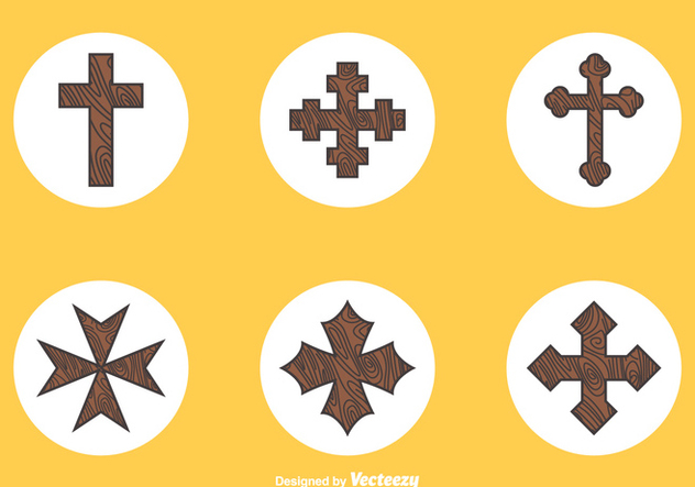 Free Wooden Crosses Vector - vector #350835 gratis