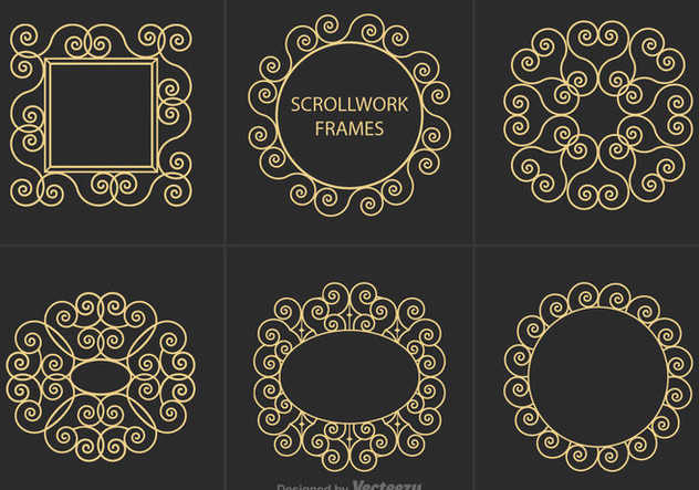 Free Scrollwork Frames Vector - Free vector #350845