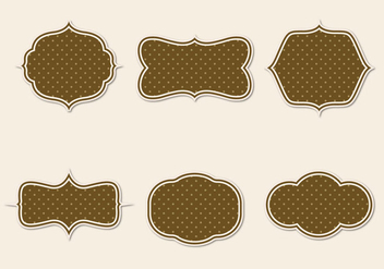 Free Vintage Paper Badges Vector - Free vector #350865