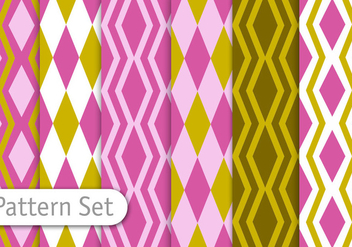 Geometric Retro Pattern Set - vector gratuit #350915