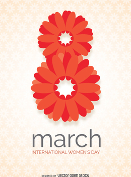 international day of women in floral design - vector gratuit #350975