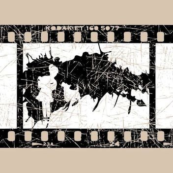 Movie Scene Broken Filmstrip - Free vector #351035