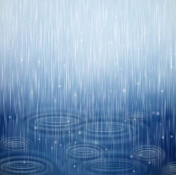 Realistic Blue Raindrops Background - vector gratuit #351055