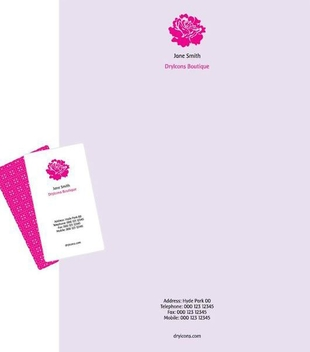 Classy Letterhead Business Card Template - Kostenloses vector #351125