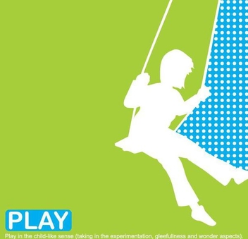 Kid Silhouette Playing Swing Cradle - бесплатный vector #351135