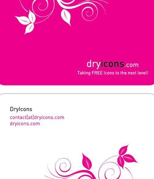 Floral Two Part Business Card - vector gratuit #351175
