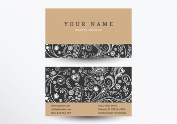 Retro Creative Business Card - vector gratuit #351525