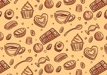 Chocolate Candy Pattern Vector - Free vector #351665