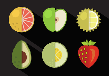 Vector Collection of Fruits - vector gratuit #351725