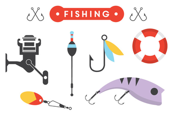 Fishing Accessories in Vector - vector gratuit #351795