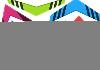 Colorful Vector Boomerang Set - vector #351885 gratis