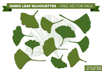 Ginko Leaf Free Vector Pack - бесплатный vector #351955