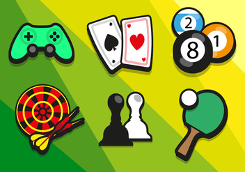 Game Colorful Illustrations Vector - vector gratuit #351985