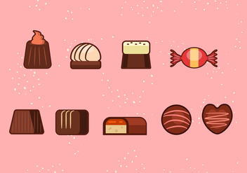 Candy Icons - vector gratuit #351995